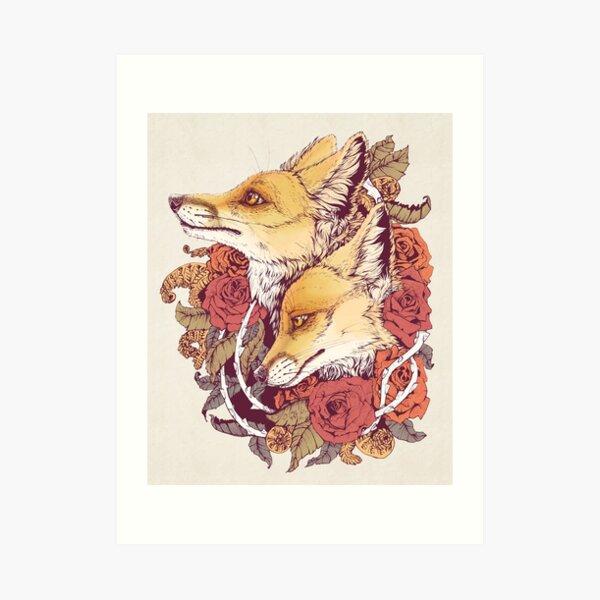 Red Fox Bloom Art Print
