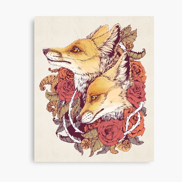 Red Fox Bloom Canvas Print