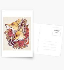 Red Fox Bloom Postcards