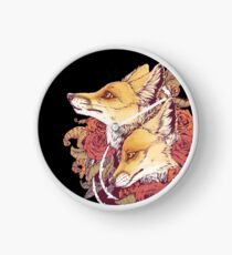 Red Fox Bloom Clock