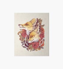 Red Fox Bloom Art Board
