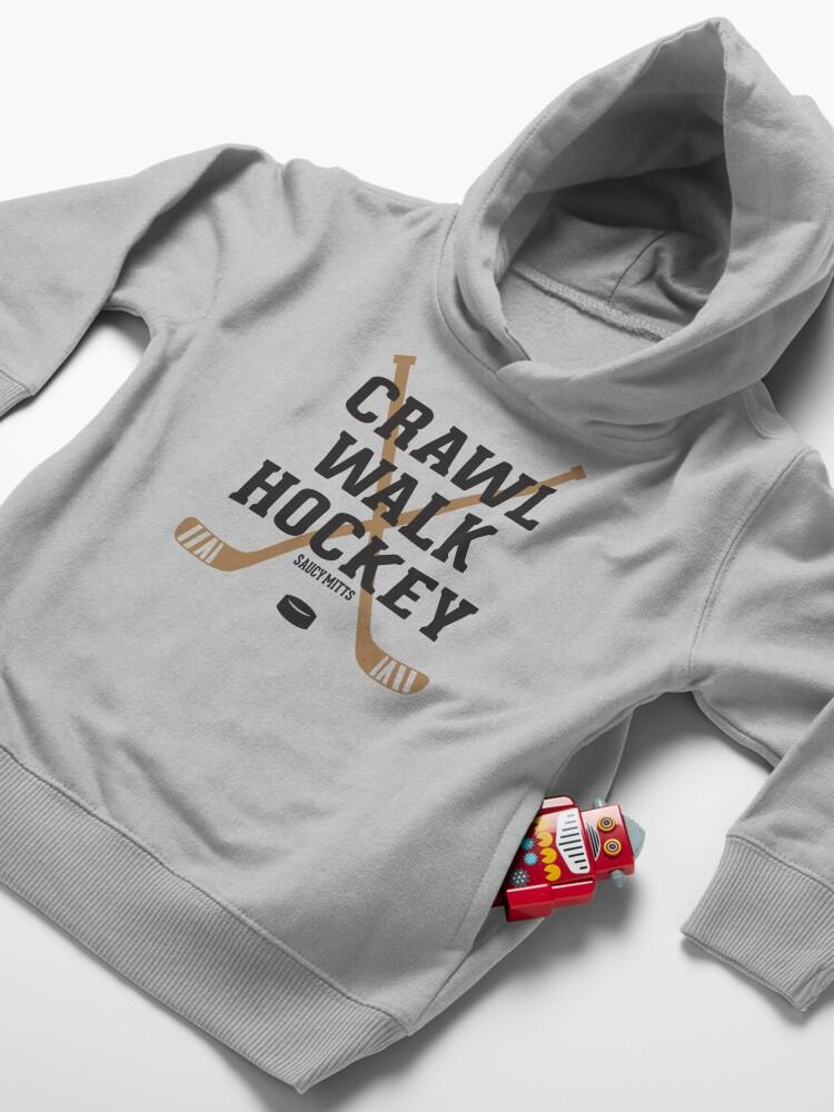 Alternate view of Hockey Baby Crawl Walk Hockey Toddler Pullover Hoodie