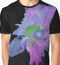 Flower on Black Graphic T-Shirt