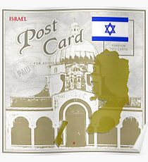 Israel Curio Post Card Poster