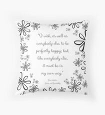 Jane Austen Floral Collection Throw Pillow