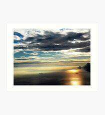 Reflections of Sunrise Scenery Art Print
