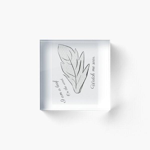 Leaf on the wind 2 Acrylic Block