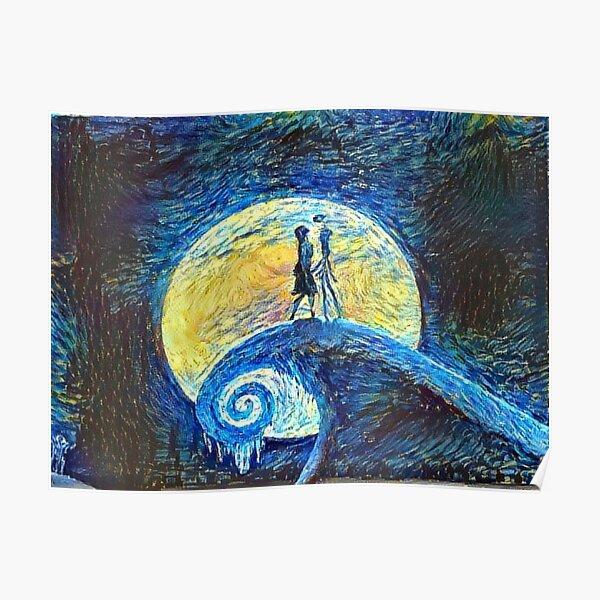 La nuit étoilée de Jack et Sally Poster