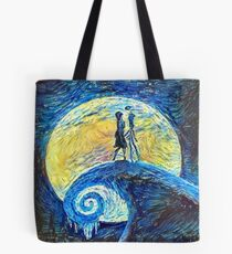 Jack and Sally's Starry Night Tote Bag