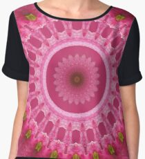 Pink flower bloom Chiffon Top