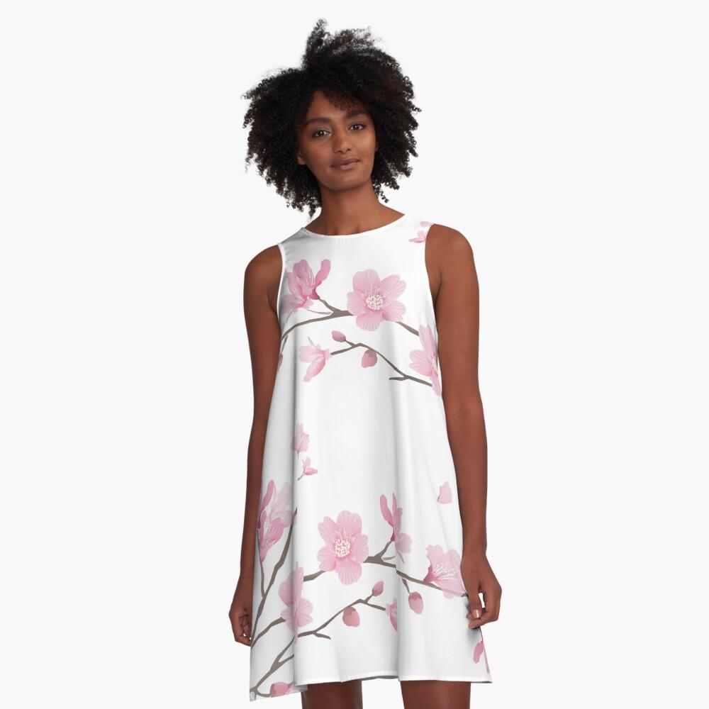 Flor de cerezo - fondo transparente Vestido acampanado