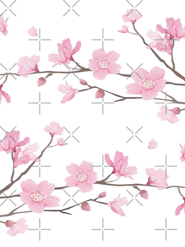 Flor de cerezo - fondo transparente de designenrich