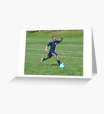 Running After the Ball Greeting Card