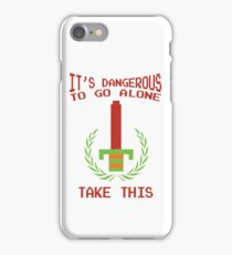 Legend of Zelda - It's Dangerous To Go Alone - Retro Nintendo Video Game Classic Gear iPhone Case/Skin