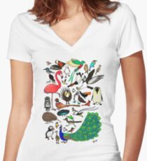 Birbs Women's Fitted V-Neck T-Shirt