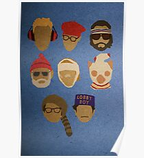 Wes Anderson's Hats Poster
