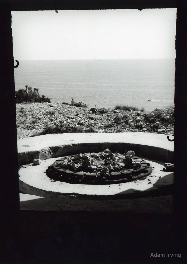 WW2 lookout post on island off Marseille, France by Adam Irving