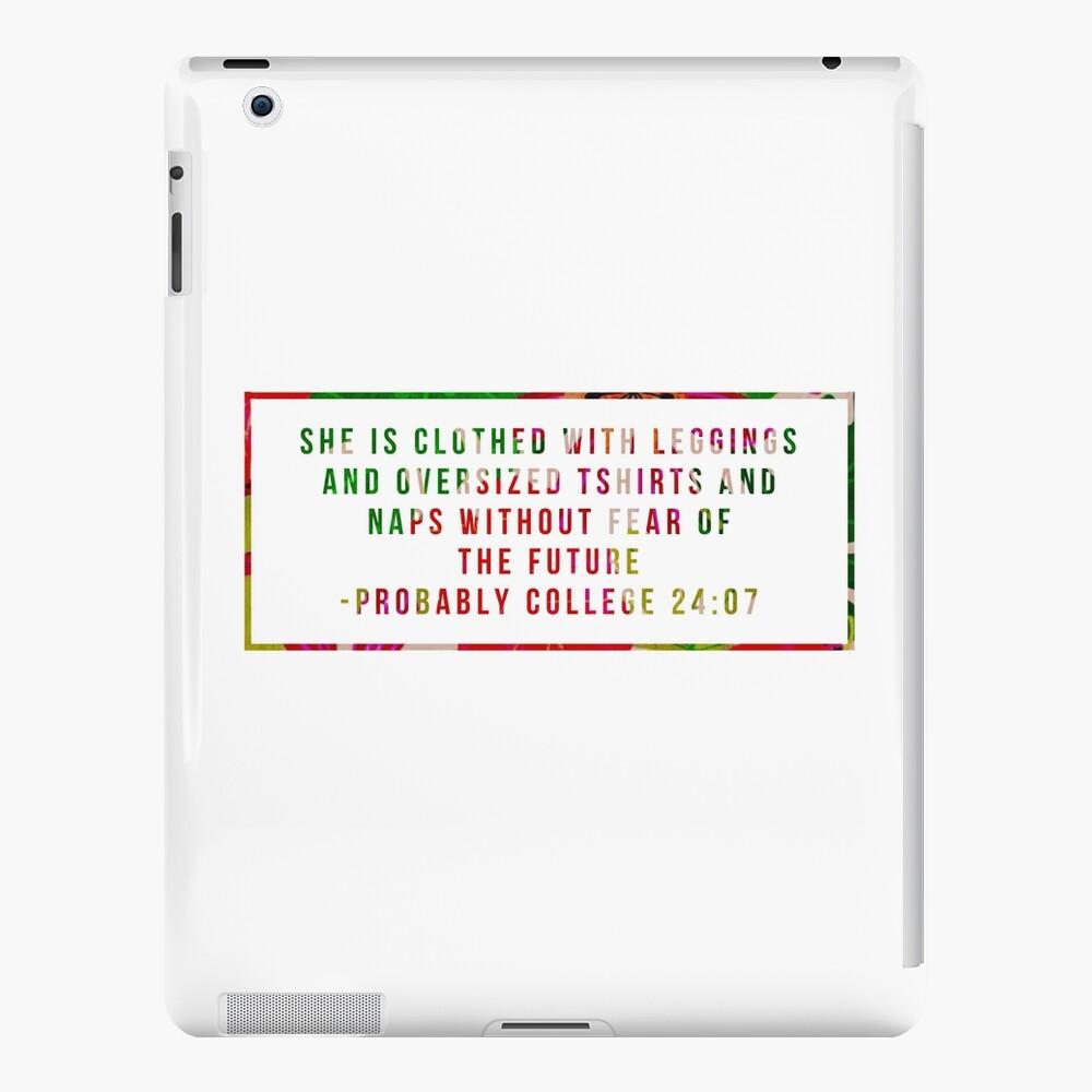 Hochschulbiblisches Zitat - rotes Blumen iPad-Hülle & Skin
