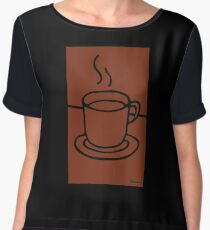 Coffee Cup - Hand Drawn Goodness Chiffon Top