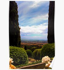 Between two trees lies Florence Poster