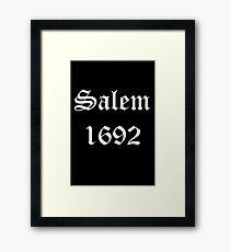 Salem 1692 - White Text Framed Print