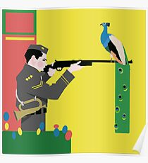 Minimalistisches Ziel und Anzünden Poster