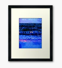 Wild Blue Sea under the Lavender Sky Framed Print
