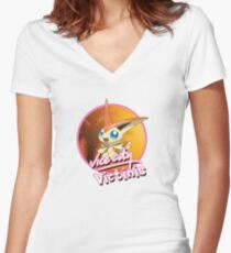 Vice City Victinis Women's Fitted V-Neck T-Shirt