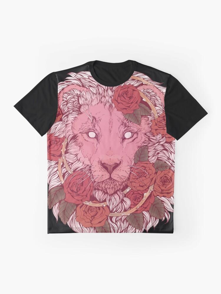 Alternative Ansicht von Löwe der Rosen Grafik T-Shirt