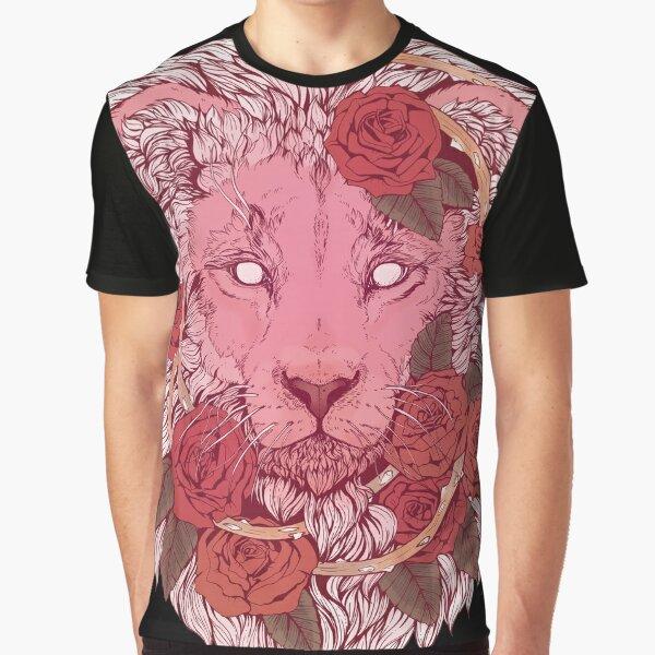 León de rosas Camiseta gráfica