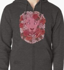 Lion of Roses Zipped Hoodie