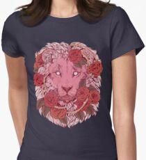 Löwe der Rosen Tailliertes T-Shirt für Frauen