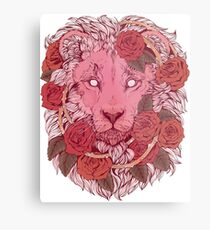 Löwe der Rosen Metallbild