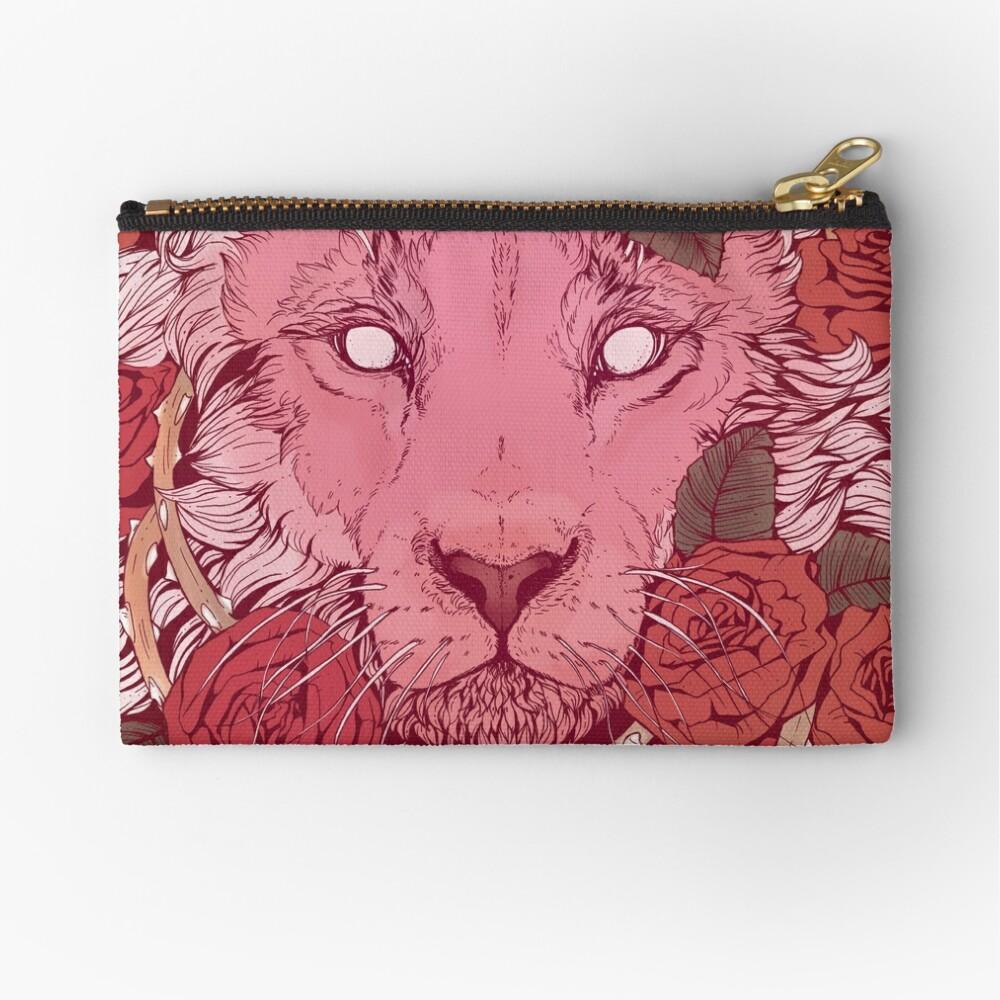 Lion of Roses Zipper Pouch