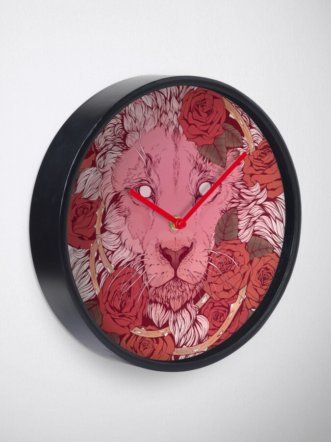Alternate view of Lion of Roses Clock
