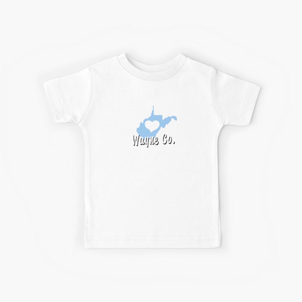 Wayne County, WV Heart Shirt Kids T-Shirt