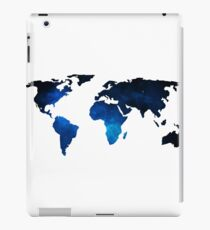 World Map Space Planet Blue iPad Case/Skin