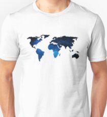 World Map Space Planet Blue Unisex T-Shirt