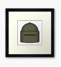 MASKA-1SCH Helmet Framed Print