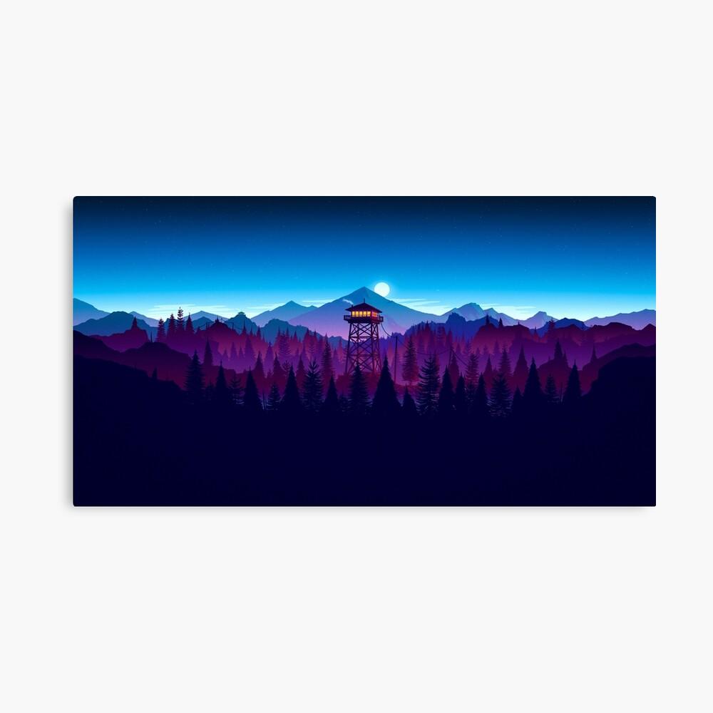 Feueruhr Nighttime Art Design - 4k Leinwanddruck