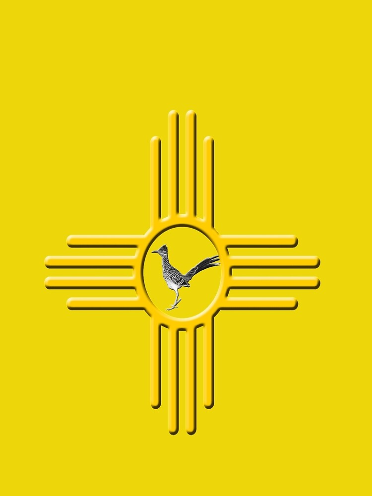 New Mexico Roadrunner Zia Symbol Contrast Tank By Newmexicotees