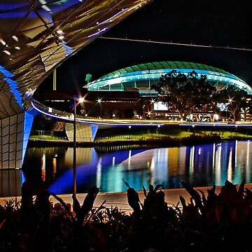 The Portress, the new Adelaide Oval by night by Ferenghi