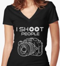 Photography - I Shoot People Women's Fitted V-Neck T-Shirt