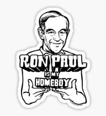 Ron Paul Is My Homeboy Sticker