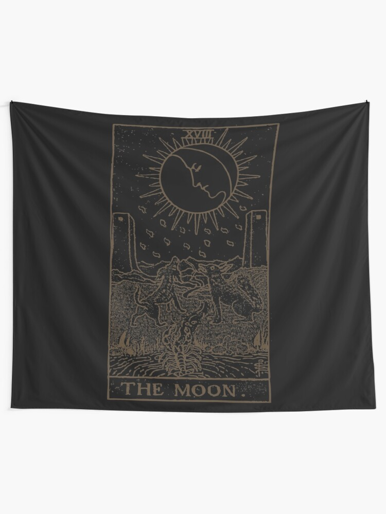 Alternate view of The Moon Tarot Tapestry