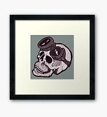 SKULL GOGGLES Framed Print