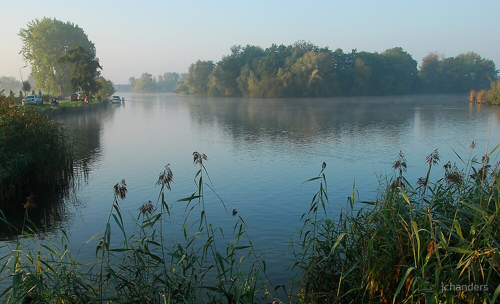 October Morning at the River Vecht by jchanders