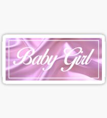 Baby Girl: Pink Square Sticker