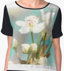 Fruit Blossom Painting Chiffon Top