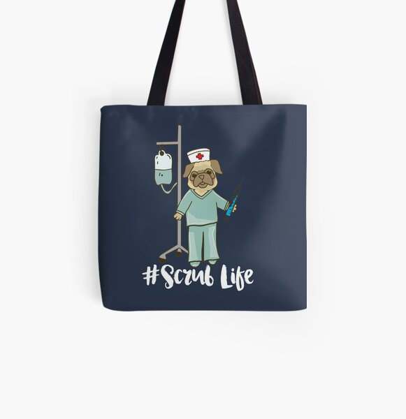 Scrub Life Nurse Bag Funny Nurse Bag Nursing School Nurse Gifts RN Gift RN Tote Blessed Nurse  Nursing Student